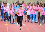 Mar 10, 2018; Cape town, South Africa; a young athletes sprints down the straight during the TrackGirlz events at University of Western Cape on March 10, 2018 in Cape Town, South Africa. (Roger Sedres/Image of Sport)