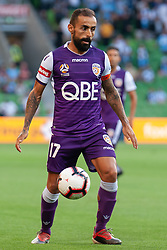 January 19, 2019 - Melbourne, VIC, U.S. - MELBOURNE, VIC - JANUARY 19: Perth Glory midfielder Diego Castro (17) controls the ball at the Hyundai A-League Round 14 soccer match between Melbourne City FC and Perth Glory on January 19, 2019, at AAMI Park in VIC, Australia. (Photo by Speed Media/Icon Sportswire) (Credit Image: © Speed Media/Icon SMI via ZUMA Press)