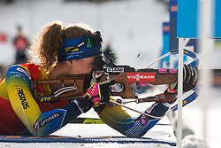 Hanna Oeberg (SWE) during the Mass Start Women 12,5 km at day 4 of IBU Biathlon World Cup 2019/20 Pokljuka, on January 23, 2020 in Rudno polje, Pokljuka, Pokljuka, Slovenia. Photo by Peter Podobnik / Sportida