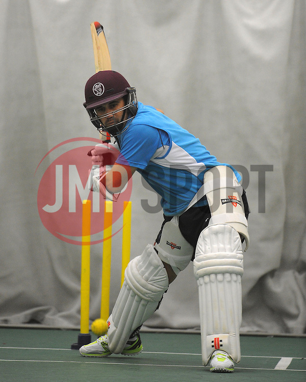 Somerset's Johann Myburgh- Photo mandatory by-line: {Harry Trump/JMP} - Mobile: 07966 386802 - 12/02/15 - SPORT - Cricket - The County Ground, Taunton, England - Somerset Training Session