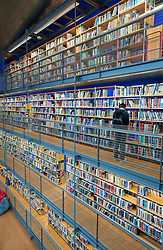 Modern architecture of Delft Technical University Library in Delft The Netherlands, Architect Mecanoo
