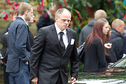 © Licensed to London News Pictures . 30/08/2012 . Manchester, UK . ALAN BENNETT, son of Winnie Johnson leaving the funeral of Winnie Johnson at St Chrysostom's Church, Victoria Park in Manchester on August 30, 2012. Winnie Johnson devoted her life to finding the body of her 12 year old son Keith Bennett who was murdered by Moors Murderer Ian Brady and Myra Hindley. Photo credit : Joel Goodman/LNP