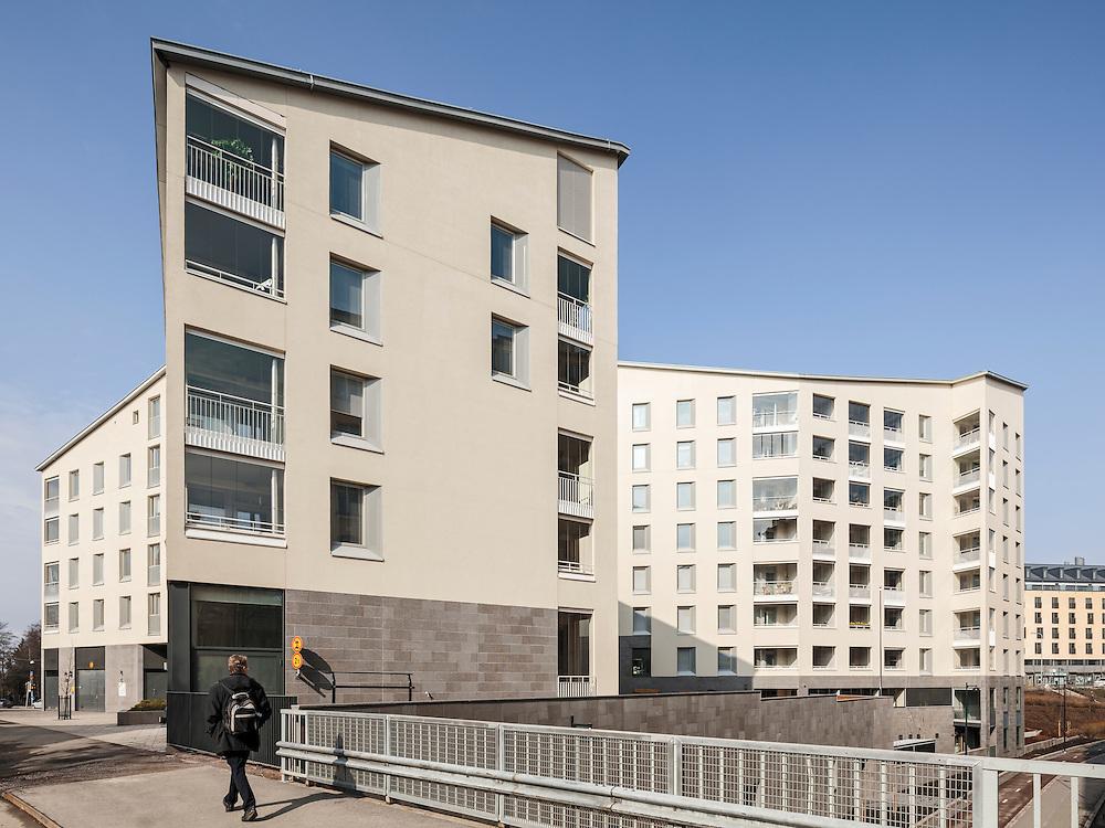 Kampin Helmi apartments in Helsinki, Finland designed by Kirsti Siven & Asko Takala Architects