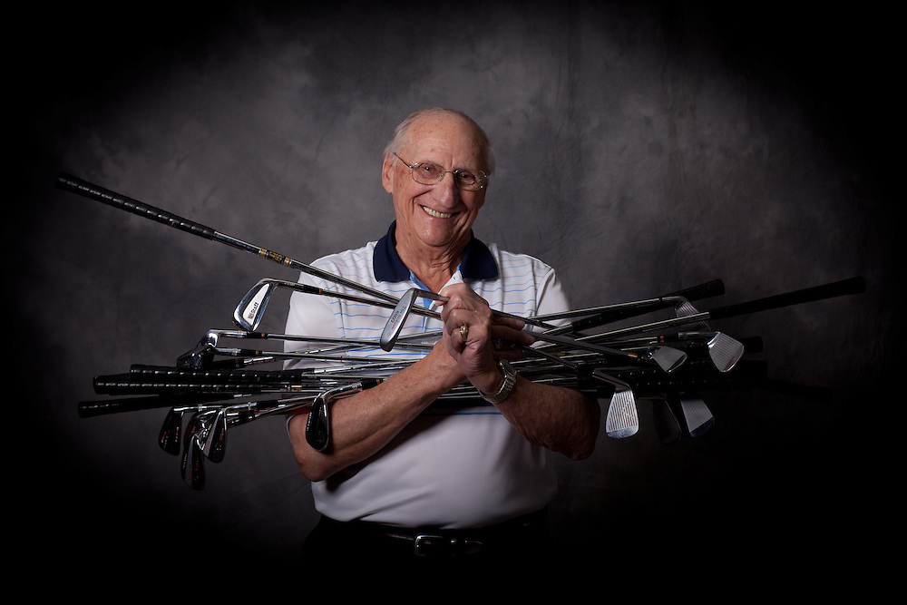 NORTH PORT, FL - JANUARY 28: Portrait of Bob Mendralla, legendary club designer for Wilson Golf, photographed in North Port, Florida on January 28, 2011. Photogrpah © 2011 Darren Carroll