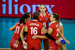 11-08-2018 NED: Rabobank Super Series Italy - Russia, Eindhoven<br /> Russia defeats Italiy with 3-0 and goes to the final on sunday / Nataliia Goncharov #8 of Russia