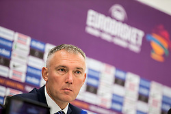 Kamil Novak, FIBA Executive director Europe during press conference of Organising committee before basketball match between National Teams of Russia and Spain at Day 18 in 3rd place match of the FIBA EuroBasket 2017 at Sinan Erdem Dome in Istanbul, Turkey on September 17, 2017. Photo by Vid Ponikvar / Sportida