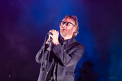 © Licensed to London News Pictures. 30/05/2014. Barcelona, Spain.   The National performing live at Primavera Sound festival.   In this picture - Matt Berninger. The National is an American indie rock band composed of members Matt Berninger (vocals), Aaron Dessner (guitar and keyboard), Bryce Dessner (guitar), Scott Devendorf (bass) and Bryan Devendorf (drums).  The band's sixth album, 'Trouble Will Find Me' released in May 2013, was nominated in the 2014 Grammys for Best Alternative Album.  Primavera Sound, or simply Primavera, is an annual music festival that takes place in Barcelona, Spain in late May/June within the Parc del Fòrum leisure site. Photo credit : Richard Isaac/LNP