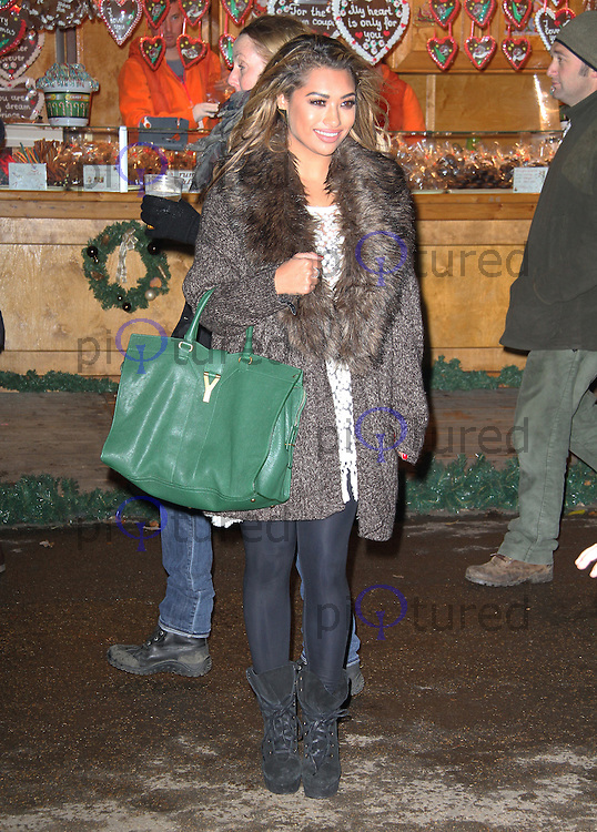 LONDON - NOVEMBER 22: Vanessa White attended the opening night of 'Hyde Park Winter Wonderland' in Hyde Park, London, UK. November 22, 2012. (Photo by Richard Goldschmidt)