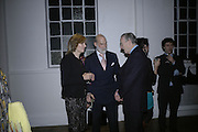 Jill Duchess of Hamilton, Prince Michael of Kent and John Hemming. Misadventure In the Middle East. Travels As a Tramp, Artist and Spy by Henry Hemming. Book launch and exhibition. Paradise Row. London. E2.  -DO NOT ARCHIVE-© Copyright Photograph by Dafydd Jones. 248 Clapham Rd. London SW9 0PZ. Tel 0207 820 0771. www.dafjones.com.