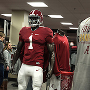TUSCALOOSA,AL-JAN15: The University of Alabama campus bookstore selling championship football gear in Tuscaloosa, AL,  January 15, 2016. The University of Alabama, founded in 1831, once served mainly Alabama students as the state's flagship institution. Now more than 60 percent of entering freshmen come from out of state. The university has had one of the largest shifts toward out-of-state enrollment in the country in the past decade. (Photo by Evelyn Hockstein/For The Washington Post)