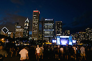 Night shots at the end of day 2 of Lollapalooza 2013 on August 3rd, 2013.