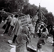 Protestors, CND Rally, Hyde Park, London, UK, 1982