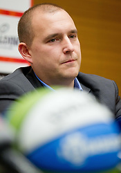 Matej Avanzo during press conference of KZS when was Jure Zdovc presented as a new head coach of Slovenia basketball team on January 15, 2014 in Hotel Plaza,  Ljubljana, Slovenia. Photo by Vid Ponikvar / Sportida