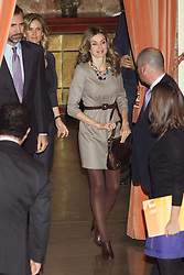 13.01.2010, CSIC Headquarters, Madrid, ESP, City awards 2011 // Prince Felipe and Princess Letizia, accompanied by Cristina Garmendia (Science minister)// during presided 'Science and Innovation' City awards at CSIC headquarters in Madrid. EXPA Pictures © 2011, PhotoCredit: EXPA/ Alterphotos/ Cesar Cebolla +++++ ATTENTION - OUT OF SPAIN / ESP +++++