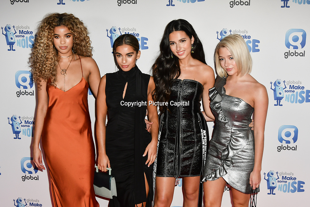 Four of Diamonds arrivers at the Global's Make Some Noise Night at Finsbury Square Marquee on 20 November 2018, London, UK.