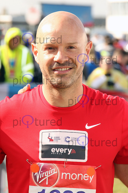 Danny Mills, Virgin Money London Marathon, London UK, 24 April 2016, Photo by Brett D. Cove