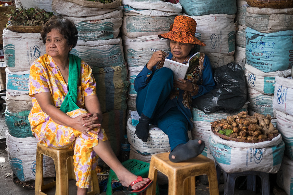 Orussey market. Phnom Penh, Cambodia. <br /> Photo by Lorenz Berna