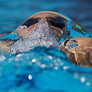 Ashley Delaney, Australia, in action in the Men's 4x 100m Medley Relay at the World Swimming Championships in Rome on Sunday, August 02, 2009. Photo Tim Clayton