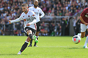 Sheffield United midfielder Oliver Norwood (16) scores a goal from the penalty spot  0-2 during the Pre-Season Friendly match between Northampton Town and Sheffield United at the PTS Academy Stadium, Northampton, England on 20 July 2019.