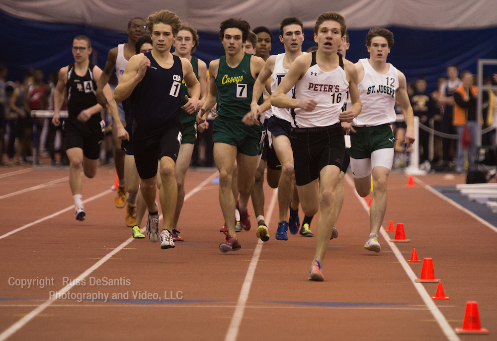 The NJSIAA Non Public A and B track and field Championships were held at The Bennett Center in Toms River. Clark Mangini of CBA edged Red Bank Catholic's Rob Napolitano in the 800 meter A race. / Photo by Russ DeSantis Photography and Video, LLC