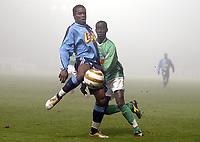 Fotball<br /> Frankrike 2004/05<br /> Ligacup<br /> Le Havre v Saint Etienne<br /> 21. desember 2004<br /> Foto: Digitalsport<br /> NORWAY ONLY<br /> CHRISTIAN NADE (HAV) / FOUSSENI DIAWARA (ST-E)