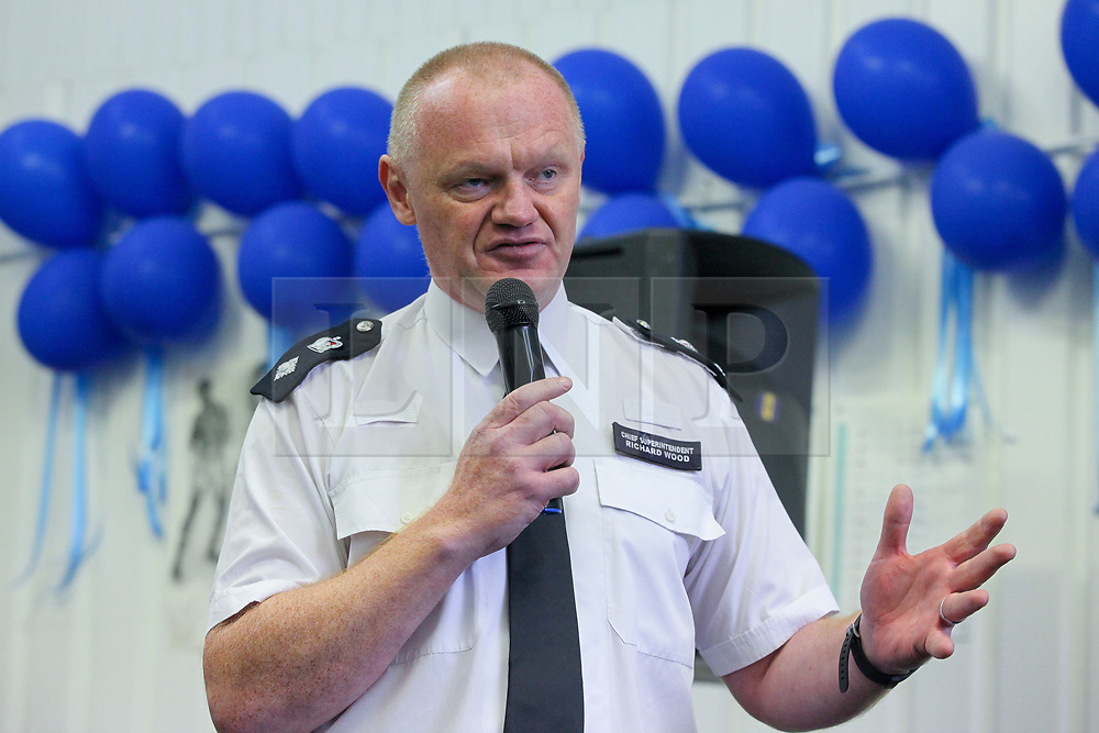 © London News Pictures. 27/06/2017. London, UK. Chief Superintendent Richard Wood speaks at the launch. The Mayor of London, Sadiq Khan and the Met Police Commissioner, Cressida Dick, launches a knife crime strategy at Dwaynamics Boxing Club, which will tackle the deeply concerning rise in knife crime across the capital, especially among young Londoners. Photo credit: Dinendra Haria/LNP