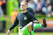 Forest Green Rovers Isaac Pearce(17) warming up during the EFL Sky Bet League 2 match between Forest Green Rovers and Exeter City at the New Lawn, Forest Green, United Kingdom on 4 May 2019.