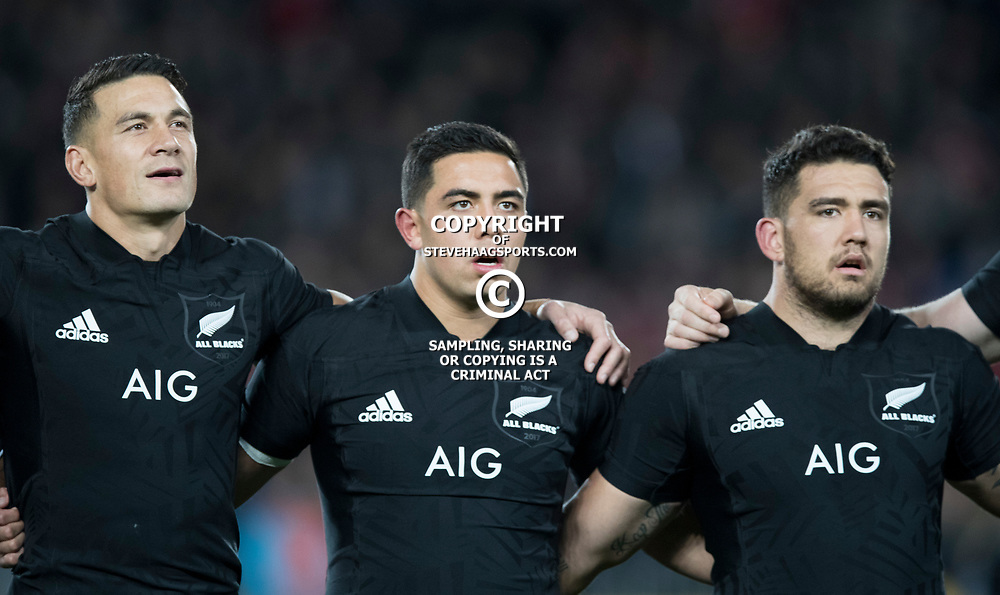 Codie Taylor Anton Lienert-Brown Sonny Bill Williams during game 7 of the British and Irish Lions 2017 Tour of New Zealand, the first Test match between  The All Blacks and British and Irish Lions, Eden Park, Auckland, Saturday 24th June 2017<br /> (Photo by Kevin Booth Steve Haag Sports)<br /> <br /> Images for social media must have consent from Steve Haag