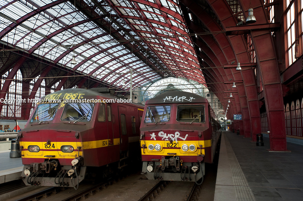 Antwerp central railway station in Belgium