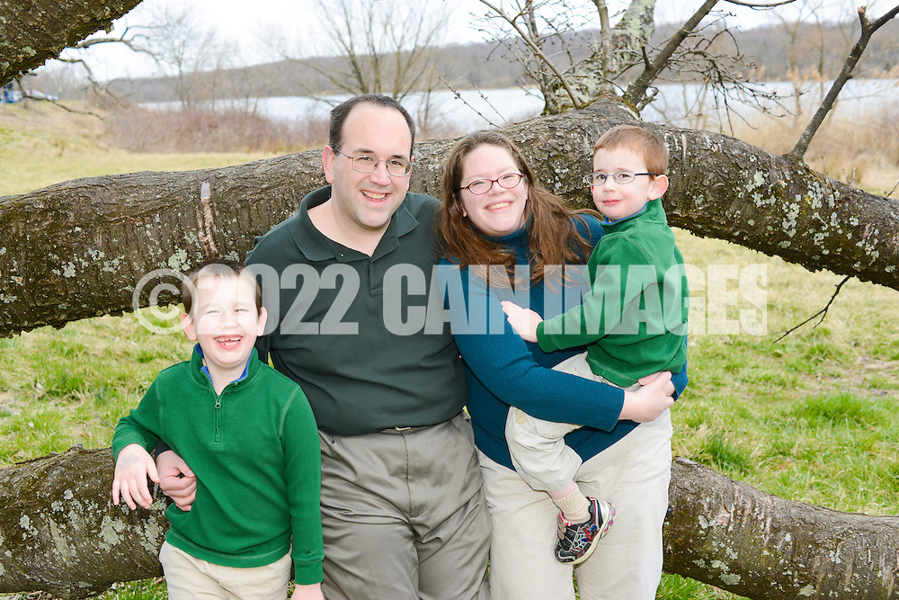DOYLESTOWN - MARCH 24:  The Flaska family is photographed March 24, 2013 at Peave Valley Park in Doylestown, Pennsylvania. (Photo by William Thomas Cain/Cain Images)