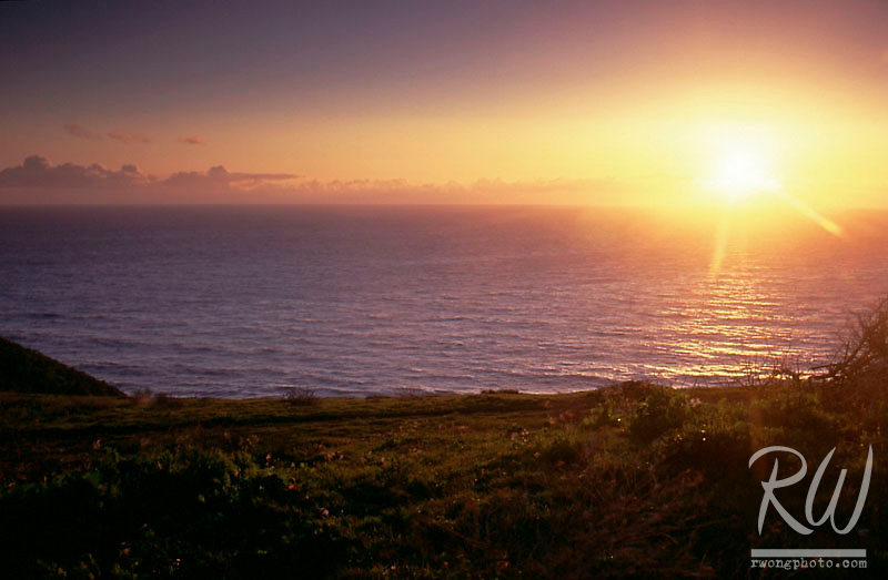 Tomales Point Sunset, Point Reyes National Seashore, California
