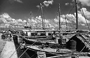 Fishing boats at Male.<br />1990