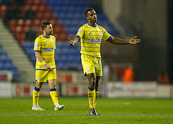 Jose Semedo of Sheffield Wednesday appeals to the referee - Photo mandatory by-line: Rogan Thomson/JMP - 07966 386802 - 30/12/2014 - SPORT - FOOTBALL - Wigan, England - DW Stadium - Wigan Athletic v Sheffield Wednesday - Sky Bet Championship.