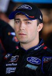 April 27, 2018 - Talladega, AL, U.S. - TALLADEGA, AL - APRIL 27:  Ty Majeski, Roush Fenway Racing, Ford Mustang Ford looks on during practice for the NASCAR Xfinity Series Sparks 300 race on April 27, 2018, at the Talladega Superspeedway in Talladega, AL.  (Photo by David John Griffin/Icon Sportswire) (Credit Image: © David J. Griffin/Icon SMI via ZUMA Press)