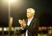 Alan Pardew applauds the Palace faithful after the Pre-Season Friendly match between Bromley and Crystal Palace at the Courage Stadium, Bromley, United Kingdom on 30 July 2015. Photo by Michael Hulf.