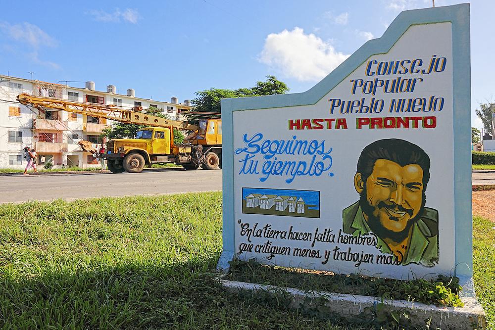 Crane truck in Consolación del Sur, Pinar del Rio, Cuba.