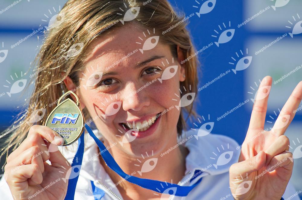 GEMO Elena Italy ITA.100 BACKSTROKE Women.finals finali.Roma Italy 14-16 June 2012.Stadio del Nuoto - Foro Italico.49 Trofeo Settecolli Herbalife 2012.Day02.Photo G.Scala/Deepbluemedia/Wateringphoto