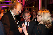 ED VICTOR; LORD BROWNE; RACHEL JOHNSON;, Orion Authors' Party,  Royal Opera House, Covent Garden, London. 15 February 2011. <br /> -DO NOT ARCHIVE-© Copyright Photograph by Dafydd Jones. 248 Clapham Rd. London SW9 0PZ. Tel 0207 820 0771. www.dafjones.com.