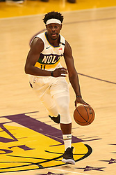 February 27, 2019 - Los Angeles, CA, U.S. - LOS ANGELES, CA - FEBRUARY 27: New Orleans Pelicans Guard Jrue Holiday (11) during the first half of the New Orleans Pelicans versus Los Angeles Lakers game on February 27, 2019, at Staples Center in Los Angeles, CA. (Photo by Icon Sportswire) (Credit Image: © Icon Sportswire/Icon SMI via ZUMA Press)