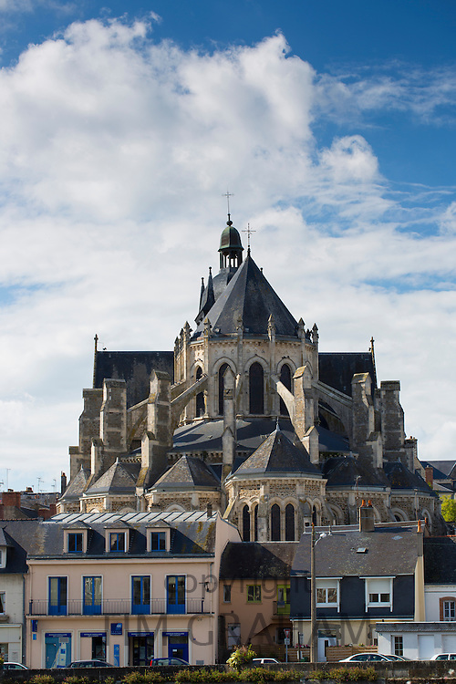 Basilique Notre Dame, Basilica of Our Lady, in Mayenne, France