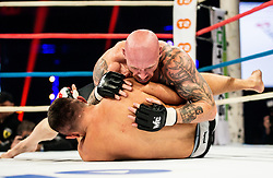 Bojan Kosednar - Zelva of Slovenia (top) in action against  Slavoljub Mitić of Serbia during their CFC welterweight Title fight at CFC 5 Fighting event, on October 6, 2019 in Arena Stozice, Ljubljana, Slovenia. Photo by Vid Ponikvar / Sportida