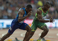 Athletics - 2017 IAAF London World Athletics Championships - Day One<br /> <br /> Event: Men's 100 Metres Qualifying <br /> <br /> Chris Coleman (USA) out of his blocks <br /> <br /> <br /> COLORSPORT/DANIEL BEARHAM