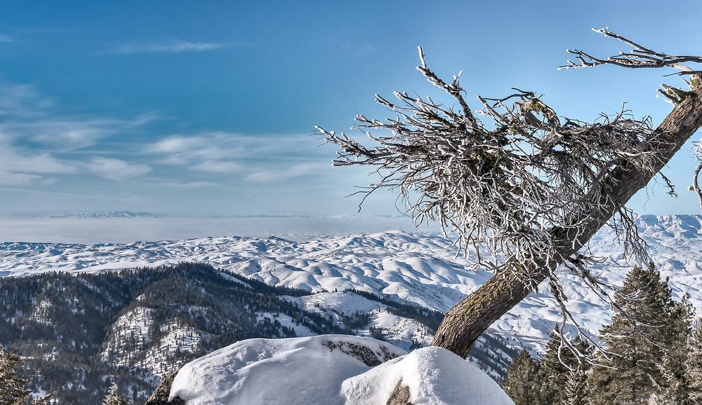 View from backside of Bogus Basin Resort, Idaho
