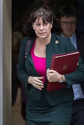 © Licensed to London News Pictures. 30/01/2018. London, UK.  Energy Minister Claire Perry leaves Number 10 Downing Street after attending a cabinet meeting. Photo credit: Peter Macdiarmid/LNP