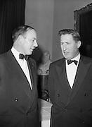 20/2/1959<br /> 02/20/1959<br /> 20 February 1959<br /> <br /> Mr Donal Ó Móráin of Gael Linn and an unnamed man speaking at the Cunmann Gaelach Inaugural