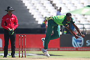 Lutho Sipamla during the One Day International match between South Africa and England at PPC Newlands, Capetown, South Africa on 4 February 2020.