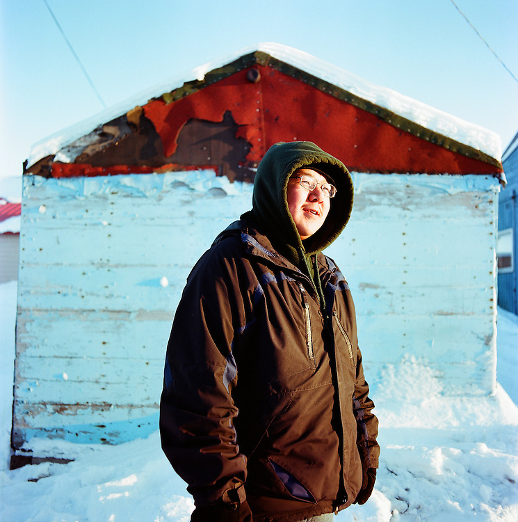 Charlie Obruk, son of one of the original contributors to the 1951 Eskimo Cookbook, Winfred Obruk, now prepares the meals for his family.