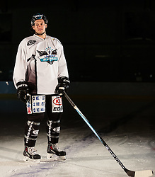 10.08.2015, Red Bull Akademie Liefering, Salzburg, AUT, EBEL, Medien Tag, im Bild Philipp Lukas (LIWEST Black Wings Linz) // during the Erste Bank Icehockey League Media Da at the Red Bull Football and Icehockey Academy Liefering in Salzburg, Austria on 2015/08/10. EXPA Pictures © 2015, PhotoCredit: EXPA/ JFK