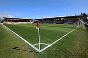 A glorious spring day at St James Park in the run up to the Devon derby in the Sky Bet League 2 match between Exeter City and Plymouth Argyle at St James' Park, Exeter, England on 2 April 2016. Photo by Graham Hunt.