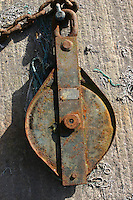Rusting fishing equipment